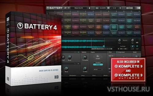 Native Instruments - Battery 4.1.6, VSTi AAX EXE x86 x64