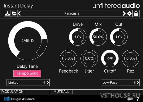 Unfiltered Audio - Instant Delay 1.0 VST, VST3, AAX x86 x64