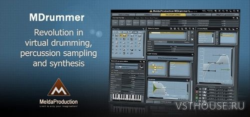 MeldaProduction - MDrummer Large 7.04 STANDALONE, VSTi, VSTi3