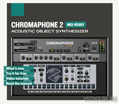 Applied Acoustics Systems - Chromaphone 2.1.1 VSTi, VSTi3, AU WIN.OSX