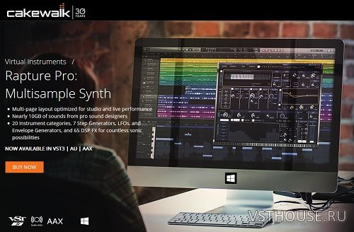 Cakewalk - Rapture Pro + Session 2.0.5.81 + Pro Factory Library