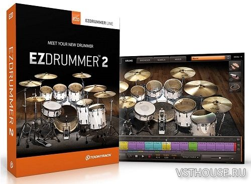 Toontrack - EZdrummer 2.1.6 + Core Library 1.1.1 STANDALONE, VSTi