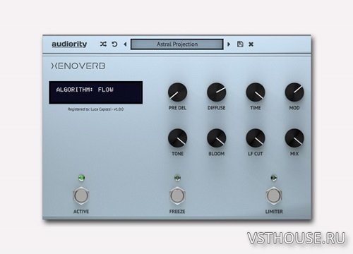 Audiority - XenoVerb 1.0.5 VST, AAX x86 x64