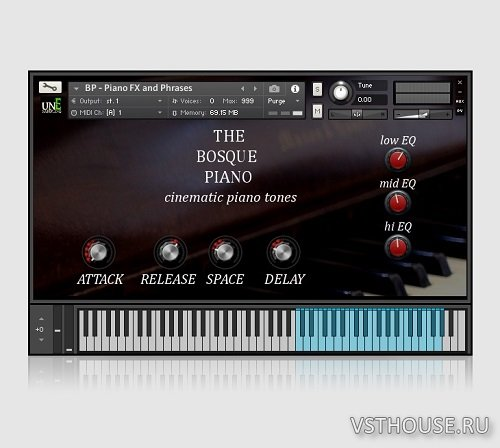 unEarthed Sampling - The Bosque Piano (KONTAKT)