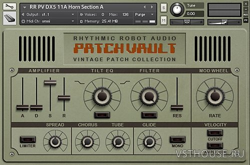 Rhythmic Robot Audio - PatchVault DX5 Custom Set 1+Factory Set A