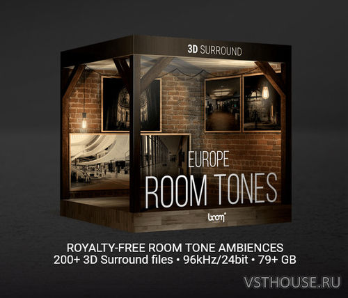 Boom Library - Room Tones Europe 3D Surround Edition (WAV)