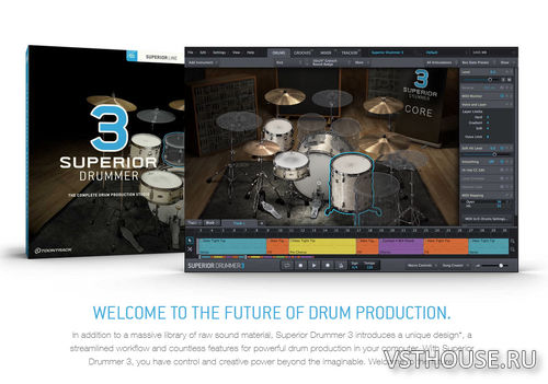 Toontrack - Superior Drummer 3.1.7 STANDALONE, VSTi, AAX x64